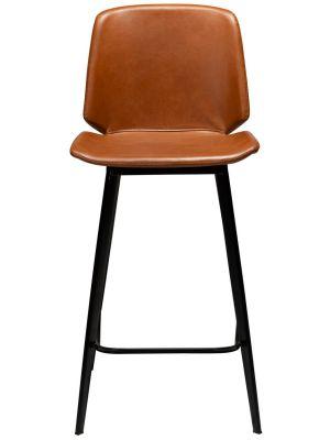 Dan-Form Swing Counter Barkruk – Set van 2 - Zithoogte 65 cm – Cognac Kunstleer