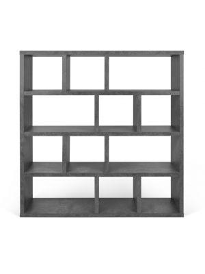 TemaHome Berlin Boekenkast 4 Levels - B150 x D34 x H159 cm - Beton Look