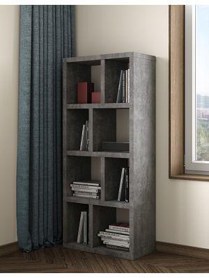 TemaHome Berlin Boekenkast 4 Levels - B70 x D34 x H159 cm - Beton Look