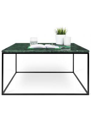 TemaHome Salontafel Gleam L75 x B75 x H40 cm - Groen Marmer - Zwart Metalen Onderstel