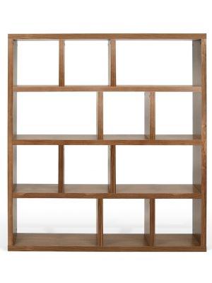 TemaHome Boekenkast Berlin 4 Levels - B150 x D34 x H159 cm - Walnoot