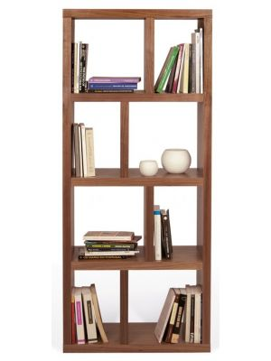 TemaHome Boekenkast Berlin 4 Levels - B70 x D34 x H159 cm - Walnoot
