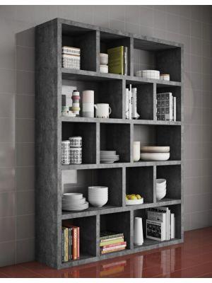 TemaHome Berlin Boekenkast 5 Levels - B150 x D34 x H198 cm - Beton Look