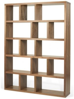 TemaHome Boekenkast Berlin 5 Levels - B150 x D34 x H198 cm - Walnoot