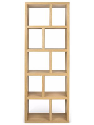 TemaHome Boekenkast Berlin 5 Levels - B70 x D34 x H198 cm - Eiken