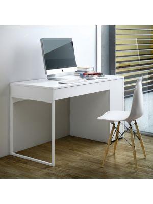 TemaHome Prado Bureau - L130 x B60 x H75 cm - Mat Wit - Wit Metaal