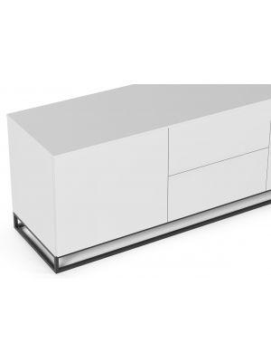 TemaHome Join 180L1 TV-Meubel - 2 deuren/2 laden - Mat Wit - Metalen Poten