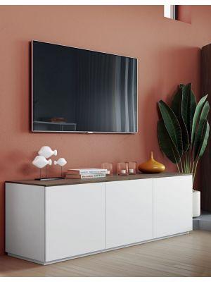 TemaHome Join 180L2 TV-Meubel 3 deuren - Mat Wit - Walnoot