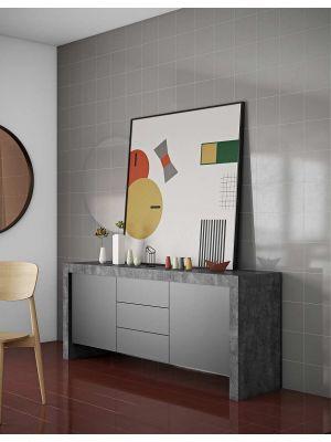 TemaHome Kobe Dressoir - B188 x D45 x H79 cm - Grijs met Zwart