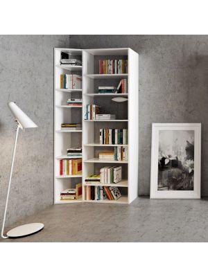 TemaHome Open Boekenkast Valsa 001 - B108 x D34 x H224 cm - Mat Wit