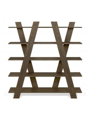 TemaHome Plankenkast Wind - B156xD39xH160 cm - Walnoot