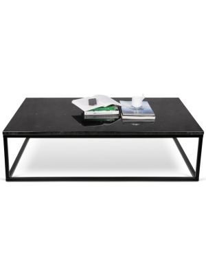 TemaHome Prairie Salontafel - L120 x B75 x H35 cm - Zwart Marmer Tafelblad - Zwart Frame