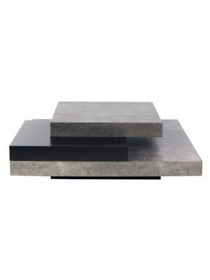 TemaHome Salontafel Slate - L90 x B90 x H30 cm - Grijs/Zwart