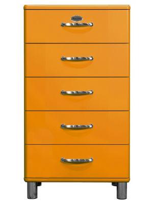 Tenzo LadeKast Malibu 5-Laden - B60 x D41 x H111 cm - Oranje