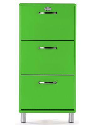 Tenzo Schoenenkast Malibu 3-Deurs - B58 x D24 x H121 - Groen