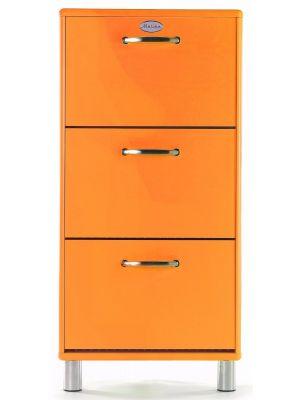 Tenzo Schoenenkast Malibu 3-Deurs - B58 x D24 x H121 - Oranje