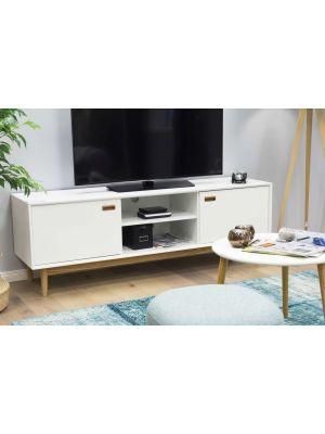 Tenzo Svea Tv-Meubel 2-Deurs/2-Vakken - B170 x D44 x H57 cm - Wit