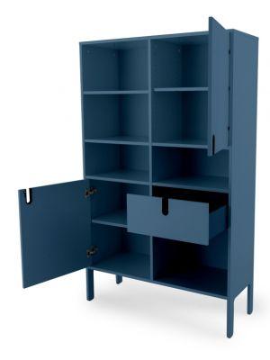 Tenzo UNO Kast - 2-Deurs - 1-Lade - 109x40x176 - Petrol Blauw