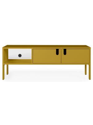 Tenzo UNO TV-meubel 2-Deurs - 1-Vak - 137x40x50 - Mosterdgeel