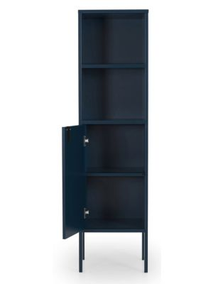 Tenzo UNO Kast - 1-Deur/2-Vakken - 40x40x152 - Petrol Blauw