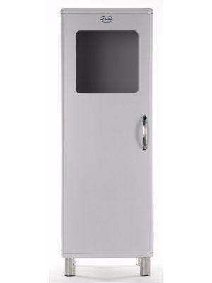 Tenzo Vitrinekast Malibu Small 1-Deurs - B50 x D41 x H143 - Aluminium