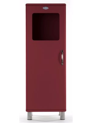 Tenzo Vitrinekast Malibu Small 1-Deurs - B50 x D41 x H143 - Bordeaux