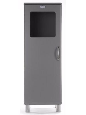 Tenzo Vitrinekast Malibu Small 1-Deurs - B50 x D41 x H143 - Grijs