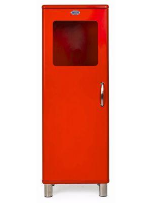 Tenzo Vitrinekast Malibu Small 1-Deurs - B50 x D41 x H143 - Rood