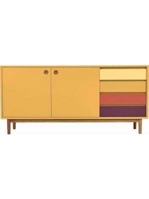 TOM TAILOR by Tenzo Color Box Dressoir 2-Deurs/4-Laden - B170xD44xH80 cm - Mosterd