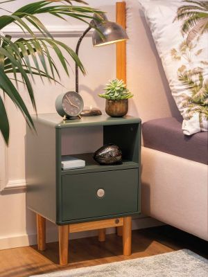 TOM TAILOR by Tenzo Color Box Nachtkastje 1-Lade - B40 x D31 x H61 cm - Bosgroen