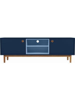 TOM TAILOR by Tenzo Color Box TV-Meubel 2-Deurs/2-Vakken - B170 x D44 x H57 cm - Blauw