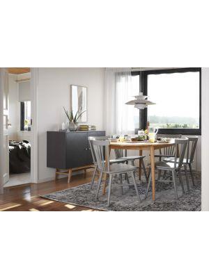 Rowico Tyler Ovale Eettafel - Uitschuifbaar - Massief Eiken - L170 x B105 x H74 cm