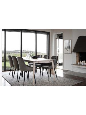 Rowico Tyler Verlengbare Eettafel - Whitewash Eiken - L180 x B90 x H74 cm