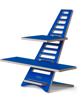 Upstaa XL sta-bureau werkplek – Berkenhout - Blauw