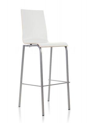 24Designs Barkruk Parma - Hoge Rug - Zithoogte 83 cm - Wit