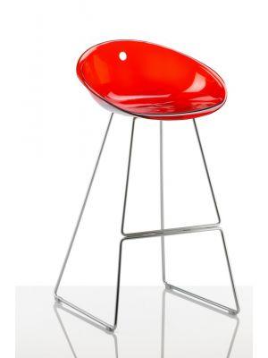 Vaste barkruk Pedrali Gliss 906 rood transparant