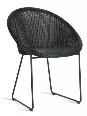 Vincent Sheppard Gipsy Dining Chair Tuinstoel Zwart incl. Zitkussen
