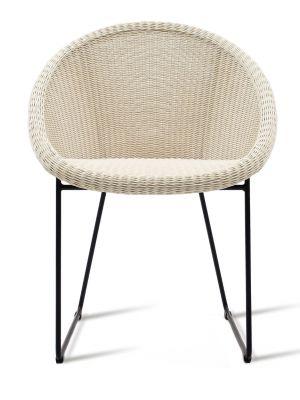 Vincent Sheppard Gipsy Dining Chair - Tuinstoel - Zwart Onderstel - Zitting Old Lace/beige