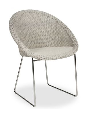 Vincent Sheppard Gipsy Dining Chair - RVS Onderstel - Old Lace/beige