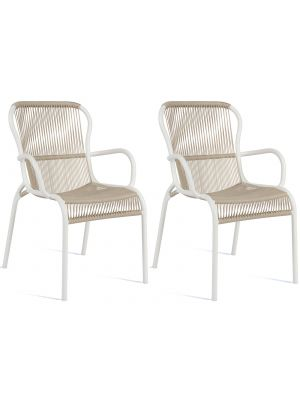 Vincent Sheppard Loop Dining Chair - Rope Tuinstoel - Set van 2 - Beige