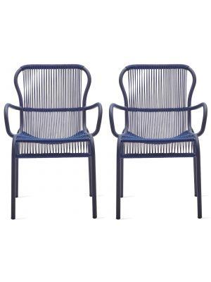 Vincent Sheppard Loop Dining Chair - Rope Tuinstoel - Set van 2 - Indigo Blauw