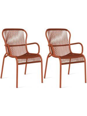 Vincent Sheppard Loop Dining Chair - Rope Tuinstoel - Set van 2 - Terracotta