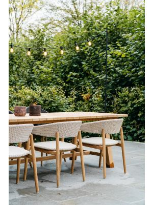 Vincent Sheppard Mona Dining Chair - Teak Tuinstoel - Old Lace Off White