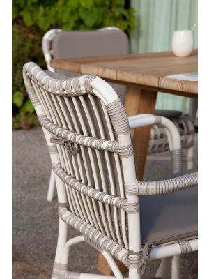 Vincent Sheppard Lucy Dining Armchair - Wicker Tuinstoel met kussenset