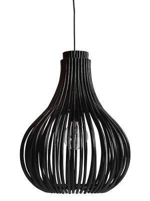 Vincent Sheppard Bulb Hanglamp - B54 x D54 x H68 cm - Zwart Rotan