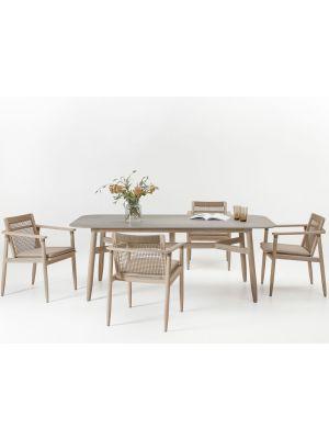 Vincent Sheppard David - Outdoor Dining Chair - Aged Teak - Inclusief zitkussen