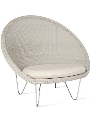 Vincent Sheppard Gipsy Cocoon Lounge Chair - Lloyd Loom - RVS onderstel Quick Ship actieset