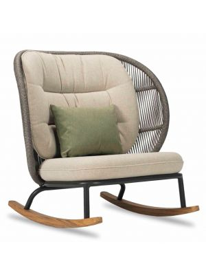 Vincent Sheppard Kodo Rocking Chair - Outdoor Schommelstoel - Almond2 - Quick Ship Set