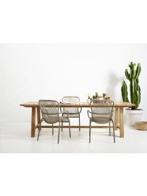 Vincent Sheppard Loop Dining Chair - Rope Tuinstoel - Set van 2 - Taupe