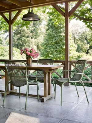 Vincent Sheppard Loop Dining Chair - Rope Tuinstoel - Set van 2 - Moss groen